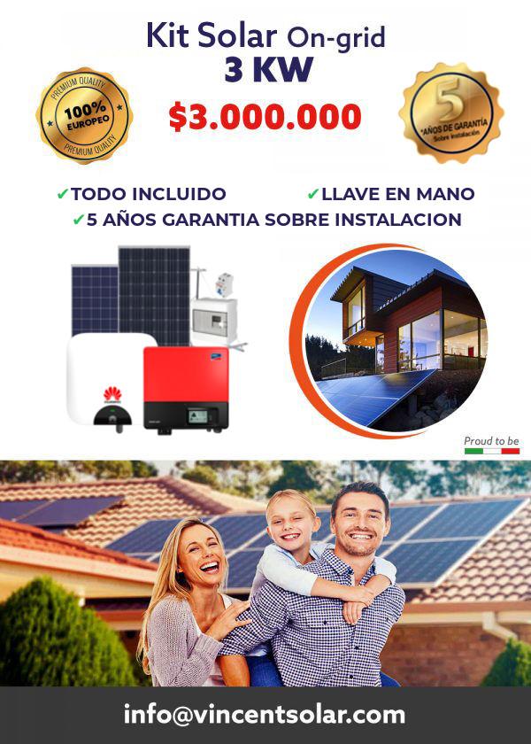 kit solar Kit Solar Hogar 3KW Ongrid Monofásico