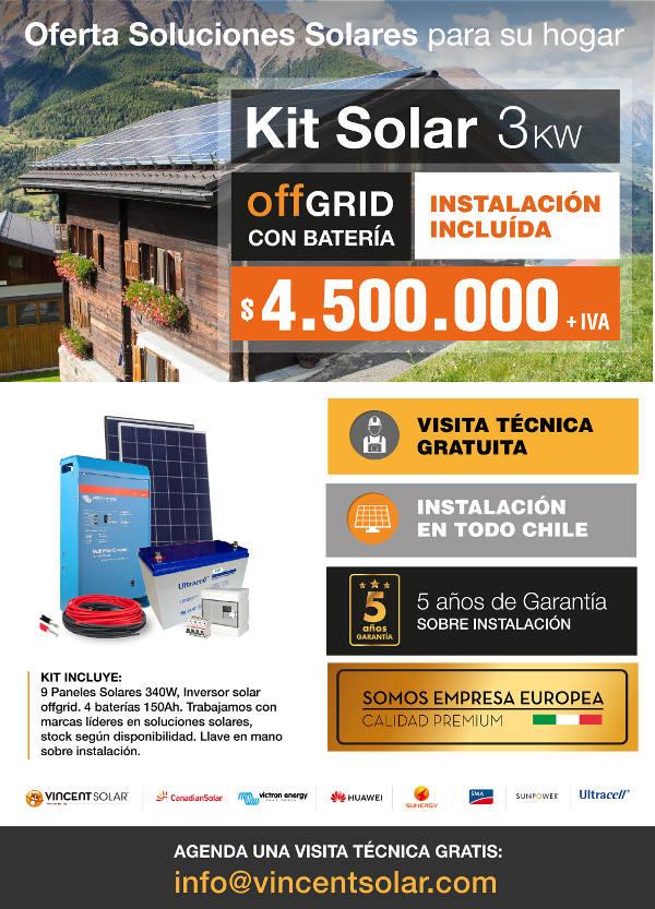 kit solar Kit Solar Offgrid 3KW Autosustentable