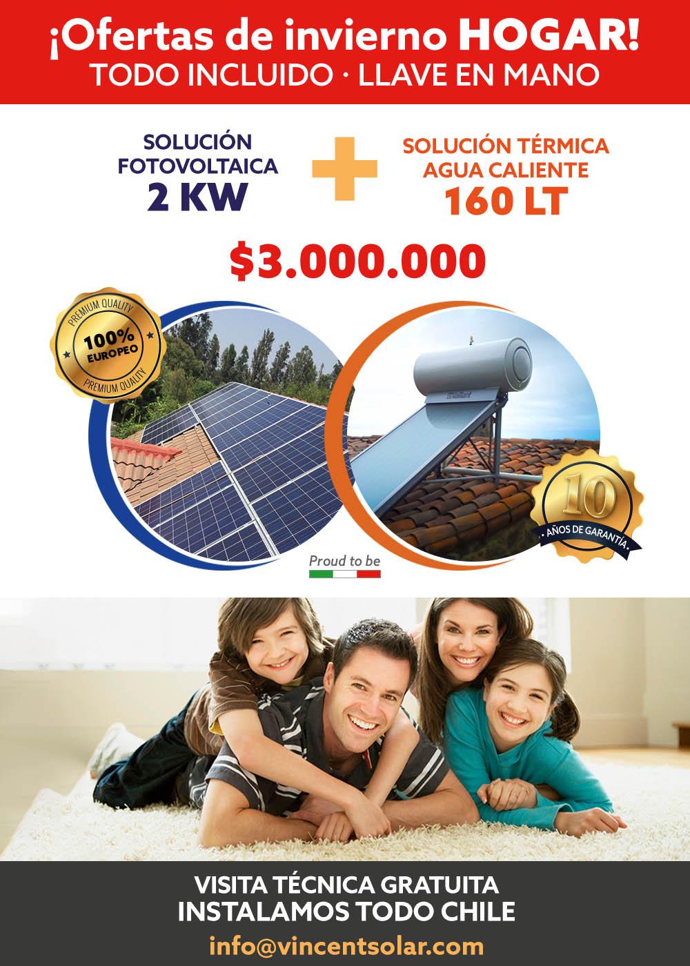 kit solar Kit Solar 2KW Fotovoltaico con 160LT Solar Térmico